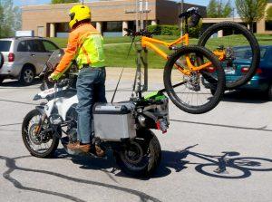Motorcycle bicycle rack piggybackbike
